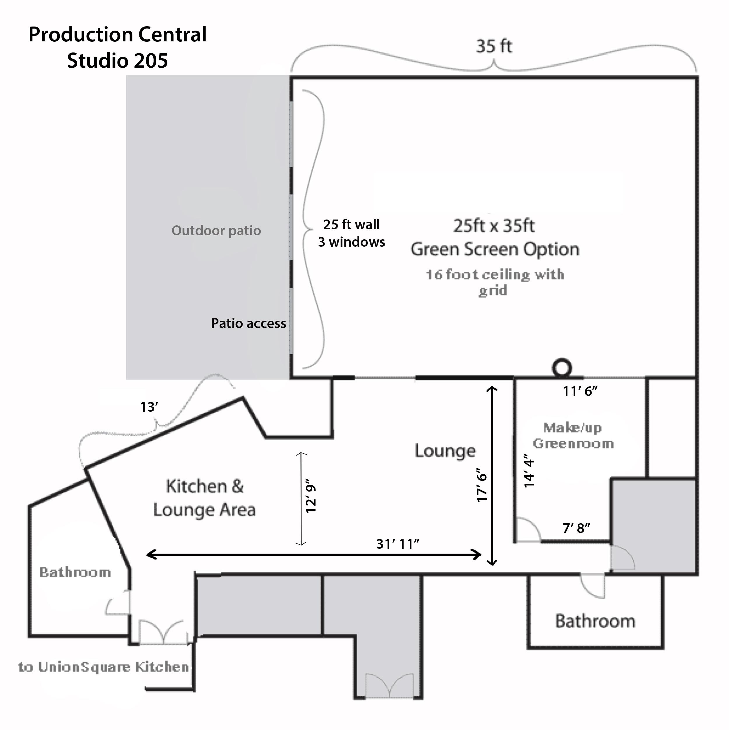 film studio rental floor plan